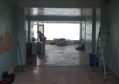Studio during refurbishment
