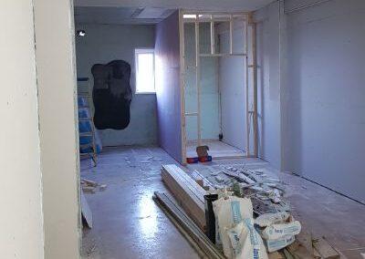 Alternative view down the studio during refurbishment