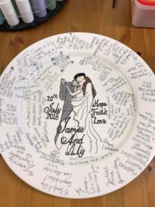 Sample commission of a Wedding Plate
