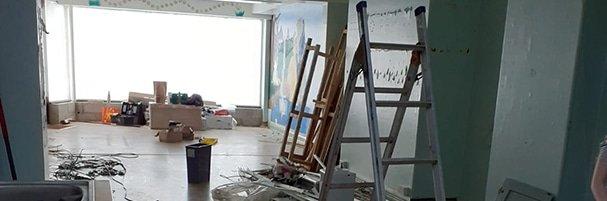 Studio being readied for refurbishment